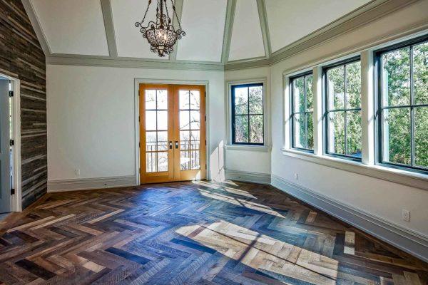 Reclaimed Antique Barnwood Herringbone Flooring 2